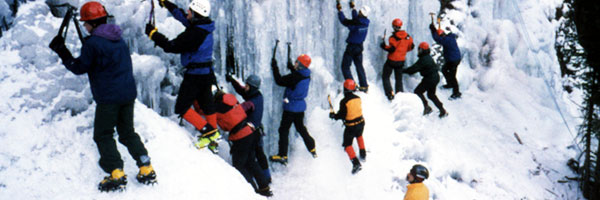 Outdoor Team Building Activities - Ice Climbing